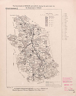 Religion and language maps of Lublin province, Poland no.09